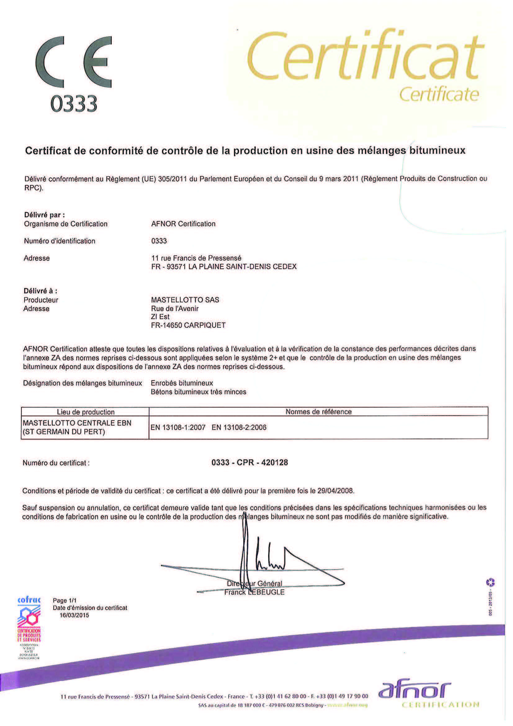 Preview Certificat CE420