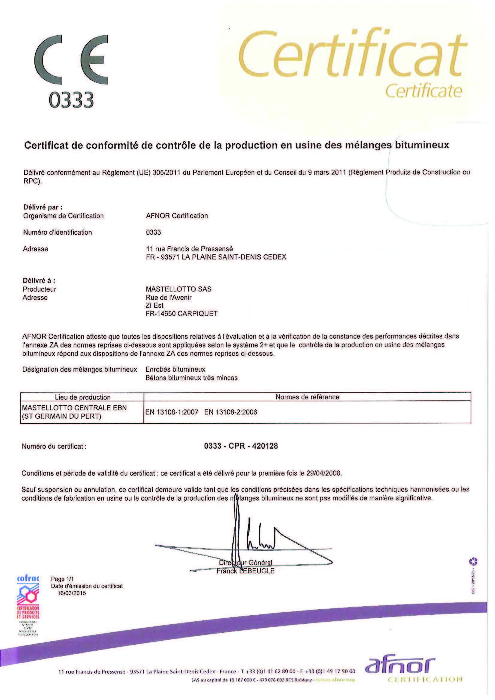 Preview Certificat CE420
