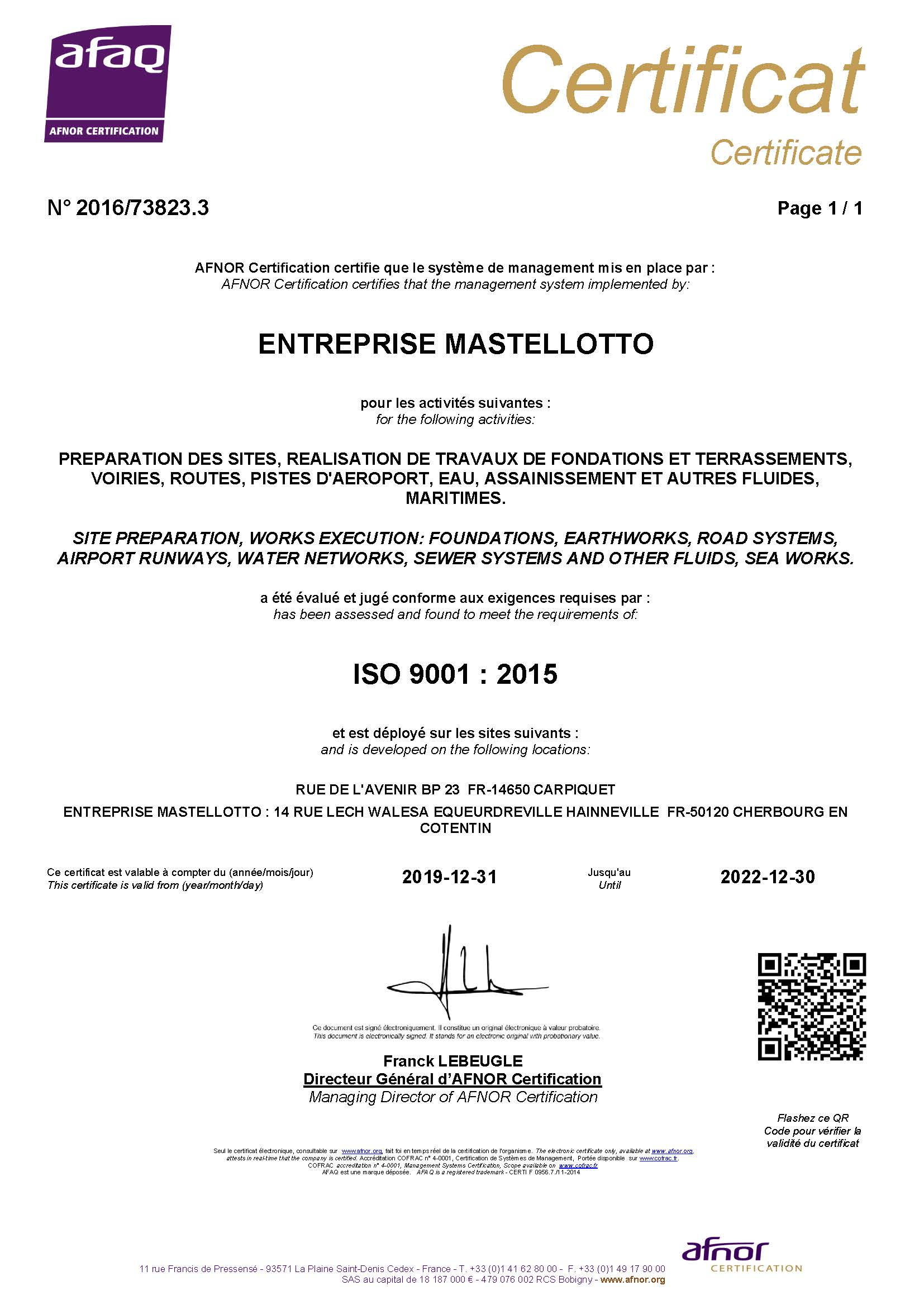 Preview Certificat ISO 9001 2020-2022