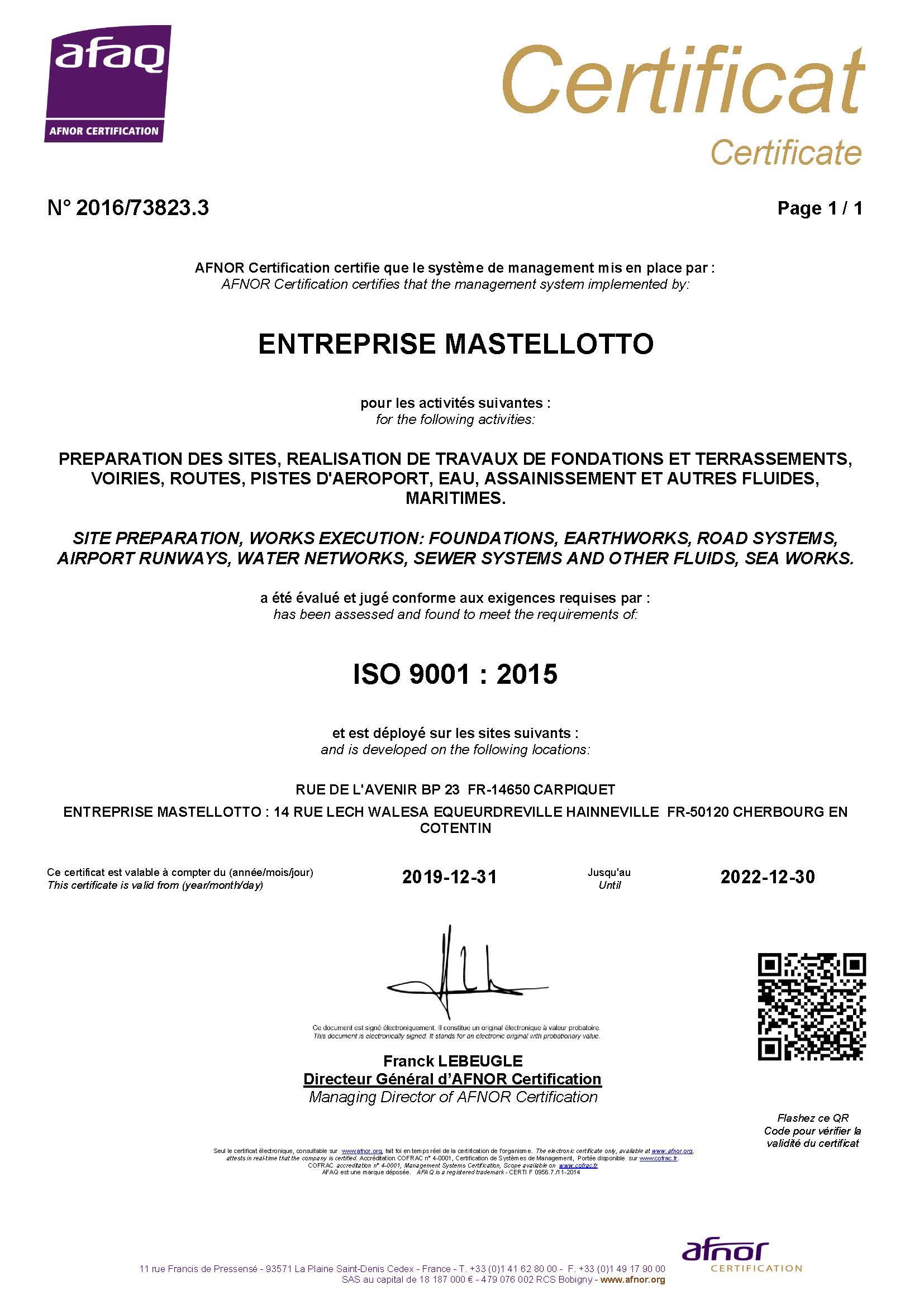 Preview Certificat ISO 9001 2020-2022